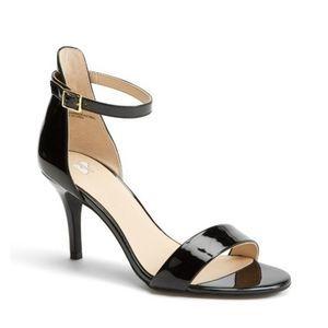 BP | Black Luminate Ankle Strap Heel Sandals 11